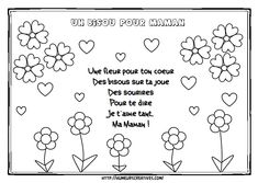 Home Decorating Style 2020 for Coloriage Bonne Fete Maman A Imprimer, you can see Coloriage Bonne Fete Maman A Imprimer and more pictures for Home Interior Designing 2020 11685 at SuperColoriage. Mothers Day Poems, Mothers Day Crafts, Crafts For Kids, Father Songs, Valentine Songs, Mather Day, Motor Skills Activities, Mother's Day Diy, Teaching French