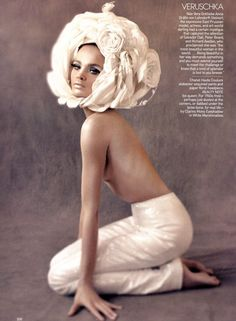 Natalia Vodianova channels Veruschka for Vogue, May 2009.  Photographed by Steven Meisel.
