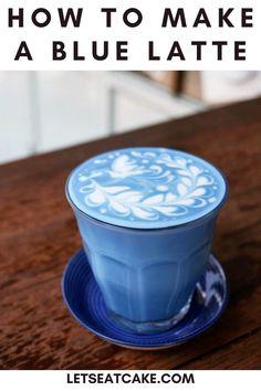 Cocoa Recipes, Coffee Recipes, Milk Tea Recipes, Cake Recipes, Kreative Snacks, Butterfly Pea Flower Tea, Lotus Tea, Baking Company, Latte Recipe