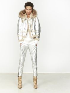 Sheepskin flying jacket in metallic leather - New In - E-store   Barbara Bui