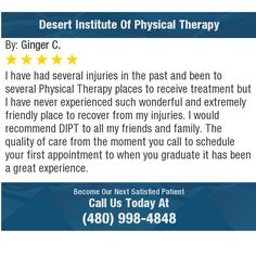 I have had several injuries in the past and been to several Physical Therapy places to...