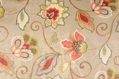 Lyrica-Century in Sage Printed Cotton Jacquard Drapery Fabric by Mill Creek $8.95 per yard