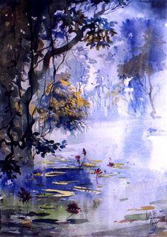 Vinod More's watercolour