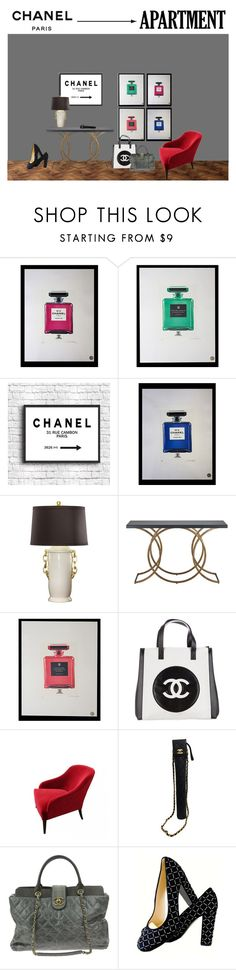 """Chanel Paris Apt"" by lifestyle-alisa ❤ liked on Polyvore featuring interior, interiors, interior design, home, home decor, interior decorating, Chanel, Bradburn Gallery and WALL"