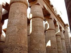 Egypt Picture - Columns in the Temple of Karnak
