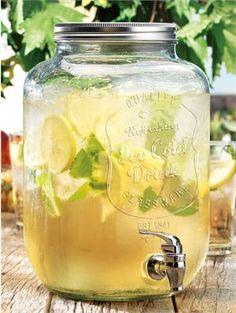 Impress Ice Cold Mason Beverage Dispenser. 2 Gallon Mason Drink Dispenser $29.99