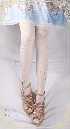 In stock: Ruby Rabbit ☪✦★~Galaxy~☪✦★ Lolita Tights, ✈can be shipped out within… Harajuku Fashion, Kawaii Fashion, Lolita Fashion, Cute Fashion, Fashion Outfits, Womens Fashion, Emo Fashion, Gothic Fashion, Moda Lolita
