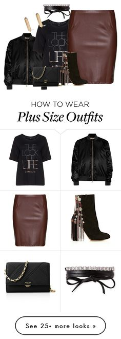 """Plus size fall/winter night chic"" by xtrak on Polyvore featuring Givenchy, Zhenzi, Studio, Chloé, Michael Kors, Fallon and Eddie Borgo"