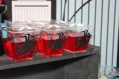 Jello Cups from a Spiderman Birthday Party via Kara's Party Ideas! KarasPartyIdeas.com (16)
