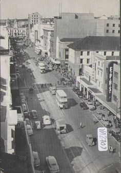 Main Street Port Elizabeth where I grew up. Port Elizabeth South Africa, Square Photos, Flash Photography, Historical Pictures, Black And White Pictures, Taking Pictures, Main Street, Maine, Architecture