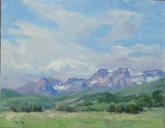Floating Sky Oil on Panel 11 x 14 by Robert McKay (floating-sky.jpg 550×429 pixels) Fourth Place, Midway Paint Out