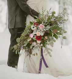 Giant wedding bouquet from Flowers At Will