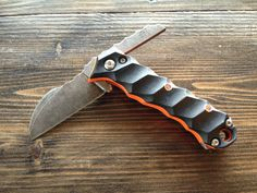 TimberGhost Talon Custom Friction Folder Very awesome looking knife love the blade