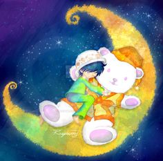 Sweet dream~ little Trafalgar Law + Bepo by RaspberryLaw on DeviantArt