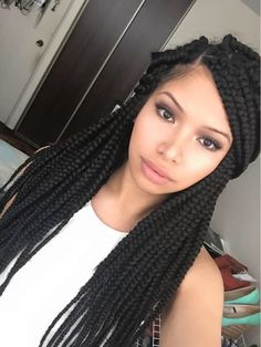 62 Box Braids Hairstyles with Instructions and Images - Hairstyles Trends Box Braids Hairstyles, Twist Hairstyles, African Hairstyles, Protective Hairstyles, Pretty Hairstyles, Protective Styles, Curly Hair Styles, Natural Hair Styles, Crochet Braids