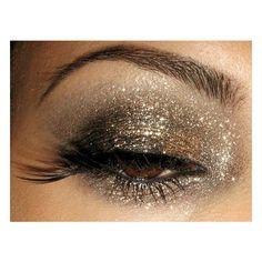 Hair & Beauty / Glittery smoky eye! Love!, found on polyvore.com