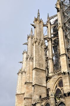 Flying buttresses at apse, Beauvais Cathedral, Beauvais, France - photograph by Susan V. Mayer