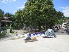 Backyard of the Grassroots United compound in Port Au Prince, Haiti.
