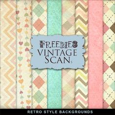 Far Far Hill: New Kit of Freebies Retro Style Backgrounds