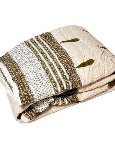 Ethnic Pure Cotton Gold Print Single Bed Quilt, buy quilt online ... : quilt buy online - Adamdwight.com