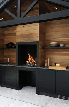 Outdoor Kitchen with Fireplace . Outdoor Kitchen with Fireplace . Küchen Design, House Design, Design Ideas, Design Projects, Garage Design, Design Inspiration, Design City, Blog Design, Rustic Design