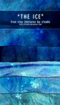 The Ice Texture Pack by cloaks on deviantART