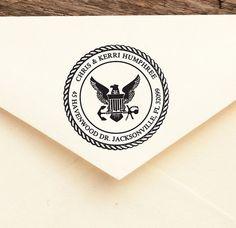 Personalized Address Stamp, Self Inking, Return Address Stamp, , Wedding stamp, Housewarming Gift - FREE SHIPPING - NAVY