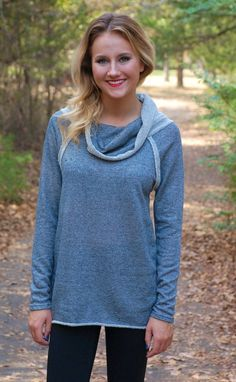 Soft & Cuddly Sweater-Grey www.shopbellac.com