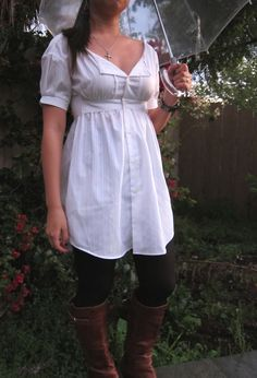 Ellis shirt dress - Project Runway Remake Challenge. No tutorial but still a great idea to make a fitted shirtdress/tunic from a man's shirt.