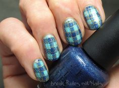 Cinderella wears plaid by brkrulesntnails from Nail Art Gallery