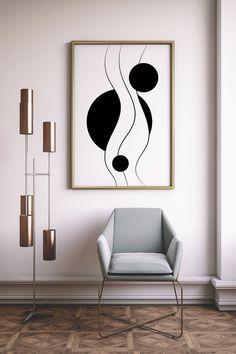 Geometric Poster, Geometric Wall Art, Geometric Shapes, Deco Zen, Simple Poster, Scandinavian Art, Modern Art Prints, Contemporary Wall Art, Art Abstrait