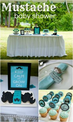 We Heart Parties | Mustache Bash Baby Shower. cute idea for a man-shower