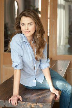 god i love her, so pretty {Keri Russell in Elle Decor, photograper: William Waldron}