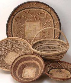 african baskets on wall - Google Search More