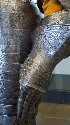 Gauntlet of Cuirassier Armor presented by Magdalena Sibylla margravine of Brandenburg to her husband Prince Elector Johann Georg I of Saxony 1612 CE Italy or France  (2) by mharrsch, via Flickr