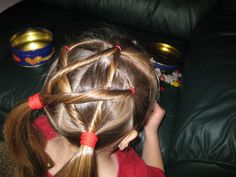fourth of july hairstyles   Hairdo How-to: Lesson 57: Twisted Star Hairstyle
