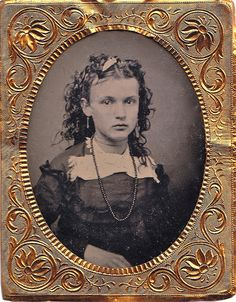 1/9th-Plate Cased Tintype of Unknown Girl, Circa 1868 by lisby1, via Flickr