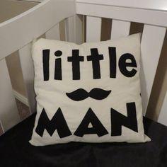Little Man Mustache Decorative Pillow by CordialLane on Etsy, $30.00