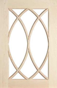 Glass Cabinet Door Styles mullion (muntin) s731 design in natural / standard grade cherry