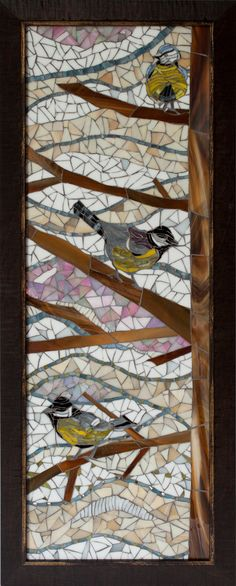 Bird Mosaic - this could be fun to do with fabric.