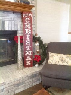 LARGE Merry Christmas Hand Painted Wooden Sign for by ASign4Life