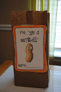 """""""Me in a Nutshell"""" - good idea for featuring a student of the week or a beginning year ice breaker activity."""