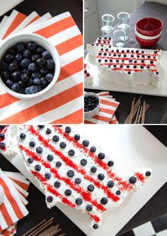 DIY USA-Shaped Cake   Oh Happy Day!