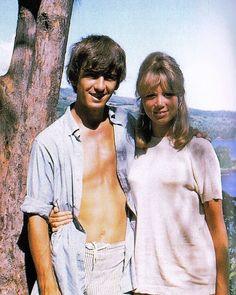 George Harrison and Pattie Boyd in Tahiti, May 1964.