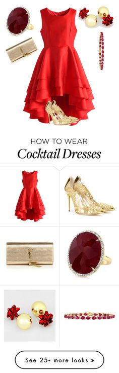 """""""Untitled #846"""" by twilsm on Polyvore featuring Chicwish, Yves Saint Laurent, Oscar de la Renta and Effy Jewelry"""