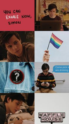 "Simon Spier portrayed by Nick Robinson in ""Love, Simon"" Amor Simon, Nick Robinson, Jacques A Dit, Simon Spier, Becky Albertalli, Mini Comic, Taste The Rainbow, Rainbow Stuff, Great Love Stories"