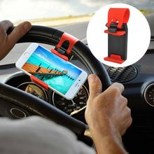 Universal Car Steering Wheel Clip Mount Holder Mobile Phone Holders For iPod MP4 GPS For Iphone 5 5S 6Plus For Samsung Galaxy S6(China (Mainland))
