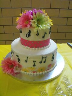 A music teacher's retirement cake.