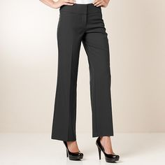 City Dressing Wide Leg Work Pants - Charcoal