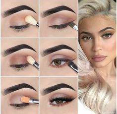 Here we have compiled simple eye makeup tips pictures. They can help you become an eye makeup expert. You can also easily get the perfect eye makeup. Kylie Jenner Eyes, Kylie Jenner Makeup Look, Kylie Jenner Makeup Tutorial, Kylie Jenner Makeup Step By Step, Eye Makeup Steps, Makeup Eye Looks, Simple Eye Makeup, Makeup Tips, Makeup Hacks